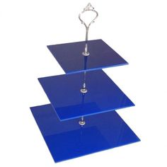 Large 3 Tier Blue Acrylic Square Cake Stand 20cm 25cm 30cm Overall height 32cm Super Cool Creations http://www.amazon.com/dp/B0081R2A3E/ref=cm_sw_r_pi_dp_aSayvb0N775Z4