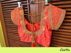 85 Latest Blouse Designs for Sarees: Images and Catalogue Wedding Saree Blouse Designs, Silk Saree Blouse Designs, Blouse Neck Designs, Wedding Sarees, Hand Work Blouse Design, Simple Blouse Designs, Traditional Blouse Designs, Maggam Work Designs, Designer Blouse Patterns