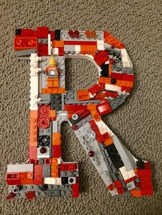 Custom toy brick wall letter letter R por MosaicTreasureBox en Etsy