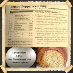 Lemon Poppy Seed Ring