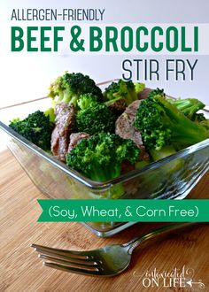 If you're looking for an easy to throw together recipe that's both yummy and healthy, this is it. Beef and Broccoli stir-fry that's allergy-friendly!