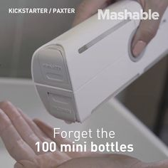 """166 Likes, 3 Comments - Mashable (@mashable) on Instagram: """"This futuristic organizer will replace your basic toiletry kit."""""""