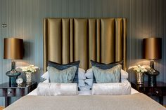 "Designers: Alexander James Interior Design This Art Deco inspired apartment features luxurious interiors from Alexander James Interior Design. A number of lighting designs from Heathfield & Co's Signature collection are featured including glass, ceramic and metal lamps. Alexander James Interior Design comment ""The brief for this extraordinary apartment was to design a scheme that was …"