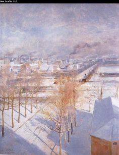 """Albert Edelfelt """"Paris in the Snow"""""""