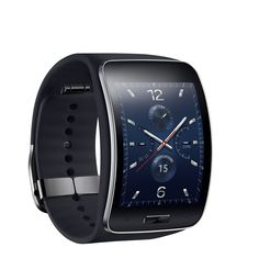 Samsung on Thursday unveiled the Gear S, its latest smartwatch model that also doubles as a smartphone. The device doesn't run Android Wear or Android, and instead relies on Samsung's in-house mobile operating system to get things done. Android Wear, Wearable Device, Wearable Technology, Mobile Technology, Wearable Computer, Latest Technology, Digital Technology, Apple Watch, Cool Watches