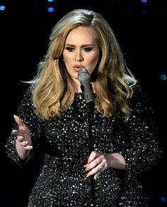 I want Adele's hair colour...in fact the style is gorgeous too.