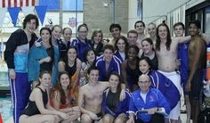 Swim team at Purchase College