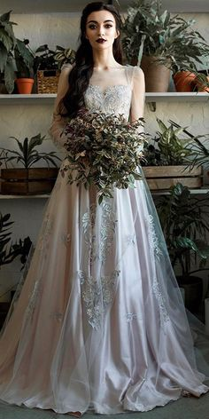 39 Vintage Inspired Wedding Dresses ❤ vintage inspired wedding dresses illusion sweetheart neckline with long sleeves a line lace karina galstyan fashion ❤ See more: http://www.weddingforward.com/vintage-inspired-wedding-dresses/ #weddingforward #wedding #bride #bridalgown