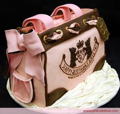 Pink and Brown Purse Cake Juicy Couture
