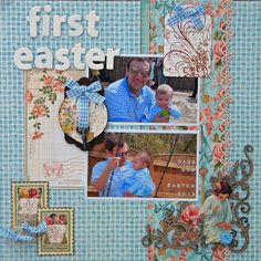 D's Paper Studio: A Scrapbook Layout for a Fabulous Dad! Featuring Graphic 45's Secret Garden Collection, Blue Fern Studios chipboard, Tim Holtz's idea-ology.