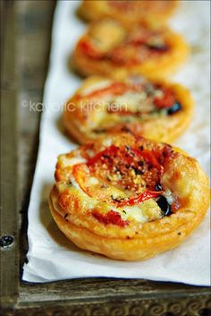 Puff Pastry Mini Pizzas. You can fill these with anything you want...