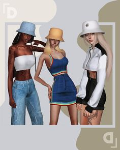 dscombobulate: 「 iris bucket hat 」 — this was. Sims 4 Cc Packs, Sims 4 Mm Cc, Sims Four, Outfits With Hats, Outfits For Teens, Girl Outfits, Matching Outfits, Sims 4 Mods Clothes, Sims 4 Clothing