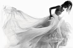 Joséphine Le Tutour by Patrick Demarchelier for Vera Wang Bridal FW14 | i LOVE this campaign. chic, dramatic, and stunning.