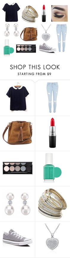 ^_^ by rojoubdalia on Polyvore featuring River Island, Converse, Miss Selfridge, MAC Cosmetics, Essie and Witchery