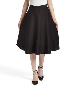 Nancy Yang Black Circle Skirt by Nancy Yang #zulily