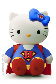 Hello Kitty as Superman ~ 50 Hello Kitty Model Crossover by Joseph Senior   The Design Inspiration