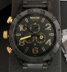 Relógio Nixon – 51-30 Chrono – Preto & Dourado – Réplica Premium AAA+ Omega Watch, Accessories, Woman Watches, Crystals Minerals, Sapphire, Tumblr Outfits, Luxury, Ornament
