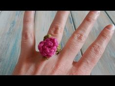 Turn Your Yarn Scraps Into This Beautiful Rose Ring! – Crafty House