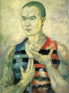Portrait of a Youth via Kazimir Malevich 52x98.5 cm oil on canvas