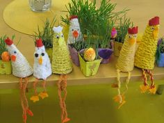 Ketjusilmukkatiput Easter Arts And Crafts, Diy And Crafts, Crafts For Kids, Art Projects, Projects To Try, Diy Ostern, Spring Theme, Art For Kids, Crochet Earrings