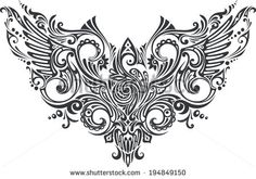Figure with Wings - stock vector