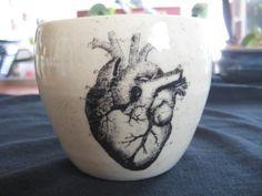 Anatomical Heart Mug by PirateRosePottery on Etsy, $38.00