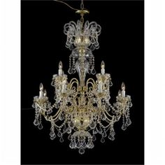 Upscale Chandelier 482212-8-4HB Chandelier, As Shown