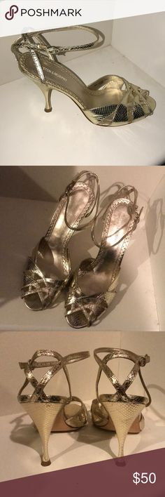 Johnston & Murphy Gold Heels Size 9 Excellent condition Shoes Heels