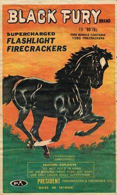 Black Fury C4 80-16 firecracker brick label by Mr Brick Label