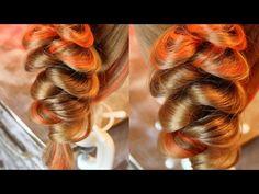 Коса на резинках - 10 - YouTube