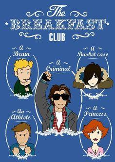 The Breakfast Club - Elisabetta Borseti The Breakfast Club, Breakfast Club Quotes, The Princess Bride, Albert Einstein Quotes, Classic Tv, Classic Movies, Brat Pack, Fan Poster, Teen Movies