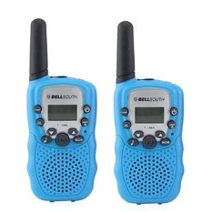 BELLSOUTH T388 2 Piece T-388 3-5KM 22 FRS and GMRS UHF Radio for Child Walkie-Talkie Blue