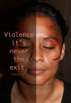 No more violence!