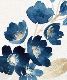 Just came across a stack of watercolor paintings from a few years ago. Some of them make me cringe, but I still love this one! I'm going to… Watercolor Paintings For Beginners, Watercolor Projects, Art And Illustration, Illustrations, Watercolor Illustration, Arte Inspo, Watercolor Flowers, Abstract Watercolor Art, Gold Watercolor