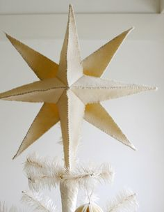 Felt star tree topper