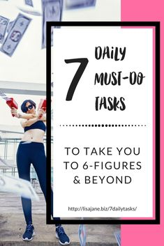 7 daily must-do tasks to take you to and beyond Business Branding, Business Marketing, Business Tips, Online Business, Business Goals, Content Marketing, Online Marketing, Money Tips, Money Saving Tips