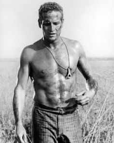 Paul Newman, this photo I believe is from cool hand Luke, it was very intense/sad.