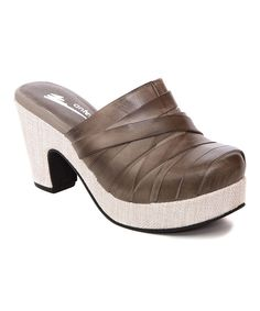 Look at this Antelope Gray Leather Clog on #zulily today!