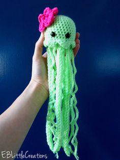 Cute handmade Crochted Shy Baby JellyFish!
