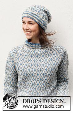 Ladies Cardigan Knitting Patterns, Fair Isle Knitting Patterns, Knitting Paterns, Knit Patterns, Free Knitting, Drops Design, Jumpers For Women, Cardigans For Women, Punto Fair Isle
