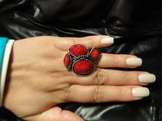 Red/Silver Ring $5 Qty 1