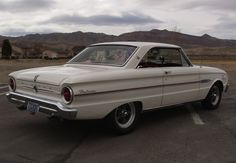 1963 Ford Falcon - Ahhh the old Falcon. My dad had one of these, it was even white.