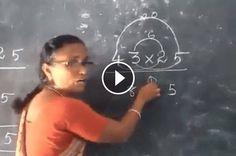 Je suis admiratif de la façon dont cette professeure de mathématiques enseigne les multiplications à deux chiffres ! Dynamique, limpide, participatif et artistique ! Quelle démonstration ! :)