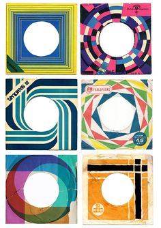 Geometric record sleeves