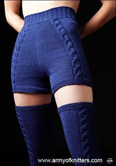 $6.00 Tanzanite Knit shorts pattern. I think it would be impossible to wear these and not feel like a super hero.