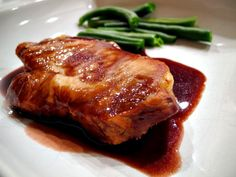 Port Wine Reduction Sauce - A velvety wine sauce, perfect for Prime Rib, Steak, Pork Tenderloin, and other meats. Duck Recipes, Wine Recipes, Cooking Recipes, Yummy Recipes, Roast Brisket, Beef Tenderloin, Pork Roast, Port Wine Reduction Sauce Recipe, Main Course Menu