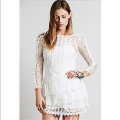 Free People Dress REALLY REALLY WANT TO SELL THIS DRESS WILLING TO NEGOTIATE PRICE LOWER THEN WHAT I HAVE LISTED BUT NOT TOO LOW. Brand new got it as a gift but doesn't fit me Free People Dresses Mini