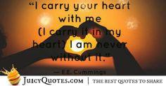 Cute Love Quote - EE Cummings