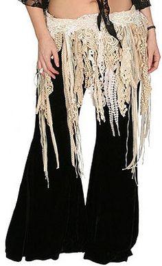 Pearls & Lace Tribal Gypsy Fringe Belt BoHo by godseyewatching, $120.00