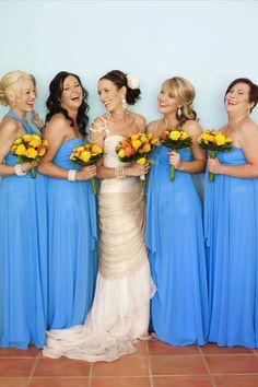 #blue #bridesmaids #dresses
